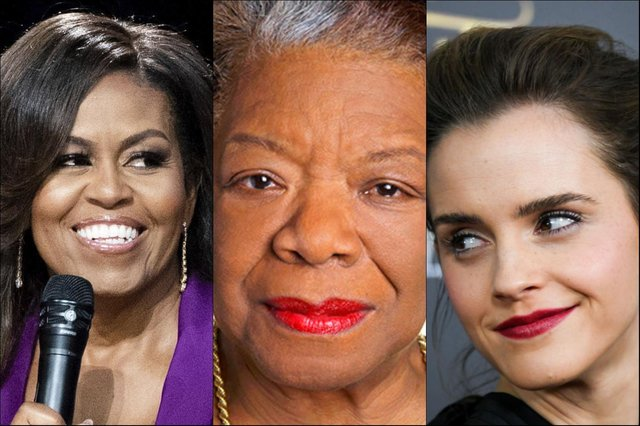Michelle Obama, Maya Angelou and Emma Watson have been strong supporters or women's rights
