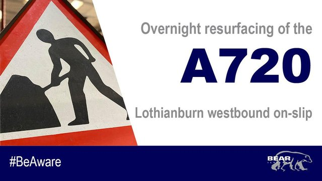 Motorists using the A720 Lothianburn westbound on-slip are set to benefit from an improved road surface.