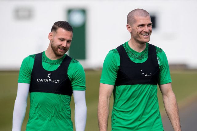 Martin Boyle, left, is free to play in the semi-final but Alex Gogic misses out