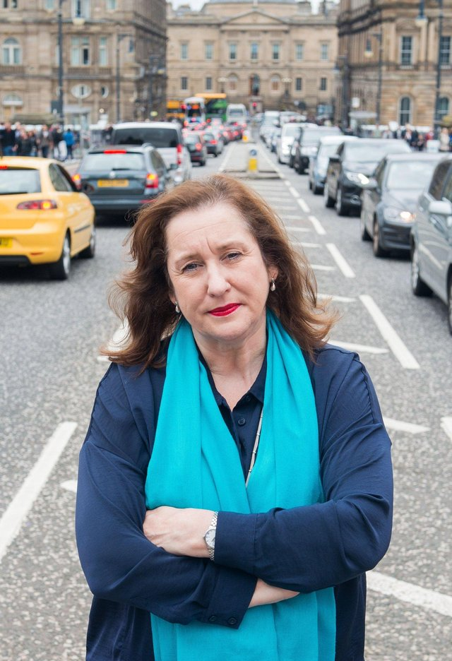 Transport Convener Lesley Macinnes sought to convince people of the benefits of becoming a low-traffic neighbourhood at a socially distanced public meeting but has since said she will consider changes (Picture: Ian Georgeson)