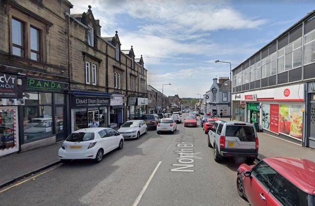 The serious assault happened in North Bridge Street in Bathgate. Pic: Google