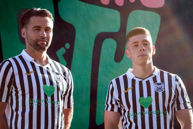 Leith Athletic's new strips will carry Shaun Woodburn's name on the front