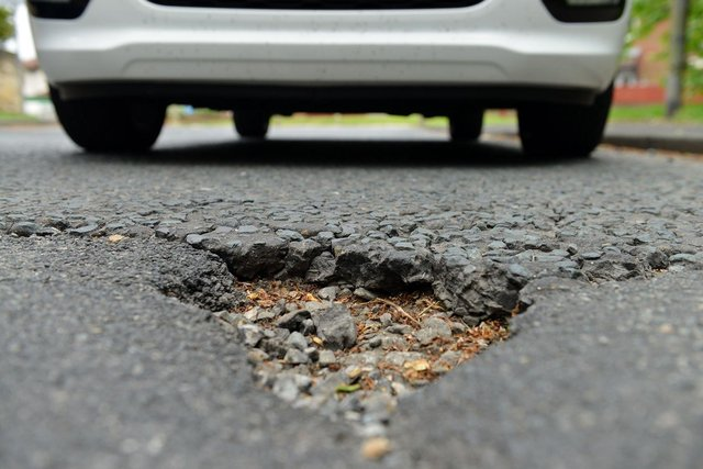 Potholes blighting the capital have increased five fold since 2007