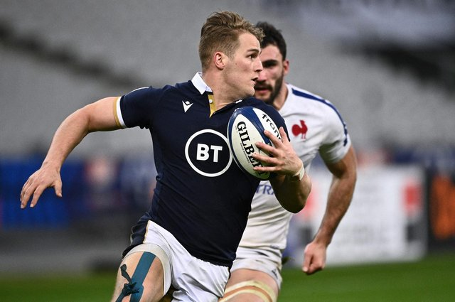 Duhan van der Merwe scored two tries against France to finish as the top try-scorer in this season's Six Nations. Picture: Anne-Christine Poujoulat/AFP via Getty Images