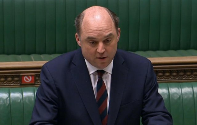 Defence Secretary Ben Wallace giving a statement in the House of Commons, London.