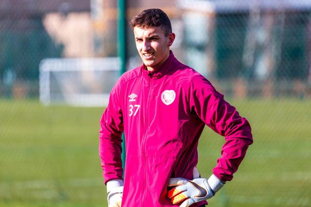 Teenage Hearts goalkeeper Harry Stone is a wanted man. Pic: David Mollison.