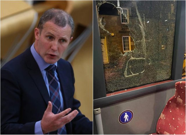 """Michael Matheson, cabinet secretary for transport, infrastructure and connectivity, told the Scottish Parliament on Thursday evening that thebehaviour was """"unacceptable."""""""