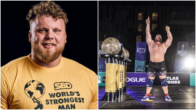 <p>Tom Stoltman is the first Scotsman to ever win the World's Strongest Man competition (Twitter)</p>