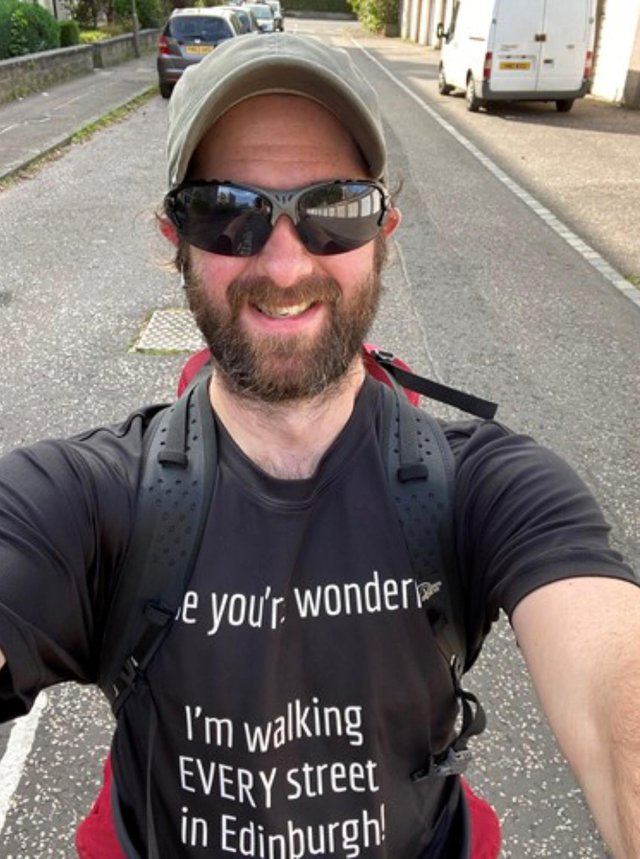 Gary Wicksted has pounded the pavements of every one of the capital's 4841 roads, streets and paths for the last year as he raised cash for the Anna Burnett Trust.