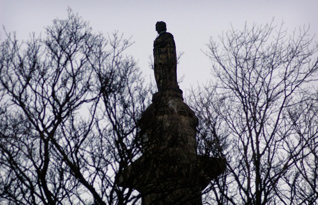 The statue of Henry Dundas, 1st Viscount Melville, who was instrumental in delaying the end of slavery (Picture: Callum Bennetts)