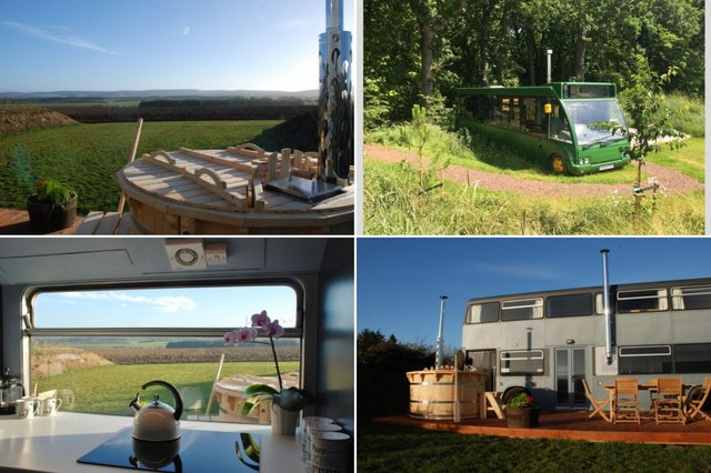 Take a look onboard these luxurious buses you can rent in the East Lothian countryside just 30 minutes from Edinburgh.