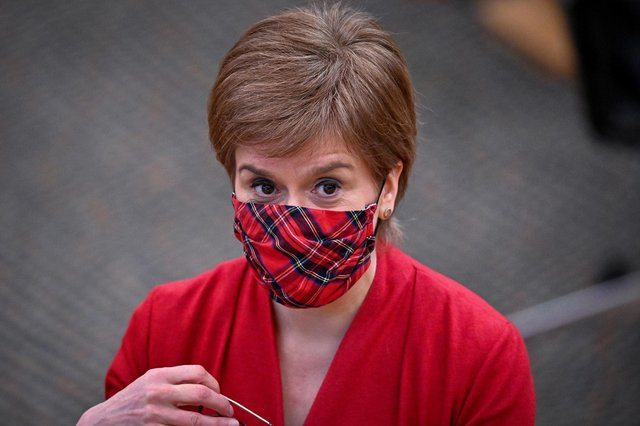 Nicola Sturgeon will address whether the planned re-opening of some parts of Scotland's economy can go ahead (PA Media)