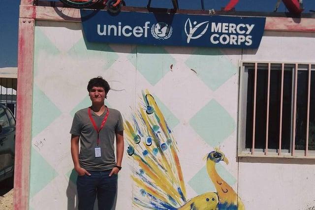 Humanitarian hero Craig Cowan is an aid worker at the Zaatari refugee camp in Jordan for Edinburgh-based charity Mercy Corps.