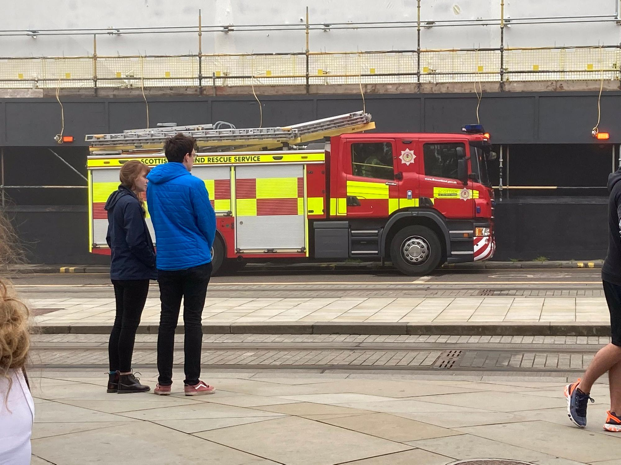 Watch fire crews descend on Edinburgh hotel as guests and staff evacuated