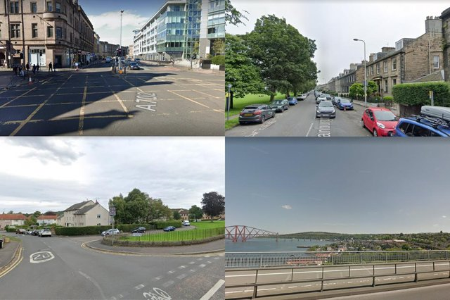 Edinburgh neighbourhoods with the highest rate of Covid-19 figures in the last week picture: Google maps