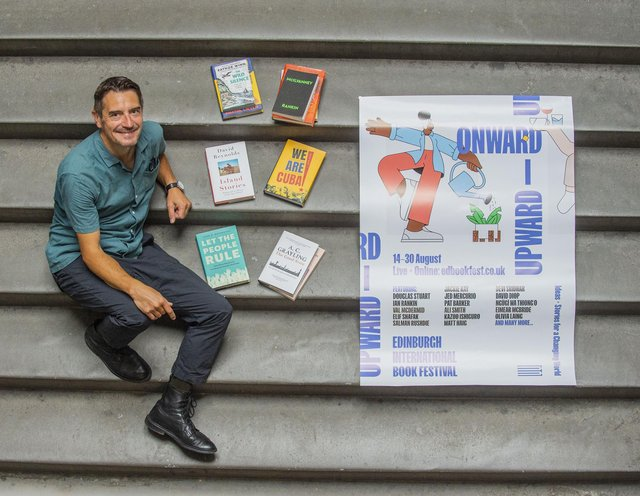 Director Nick Barley launched the book festival's programme at its new home at Edinburgh College of Art. Picture: Lisa Ferguson