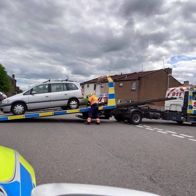 The driver was stopped in Broxburn picture: Police Scotland