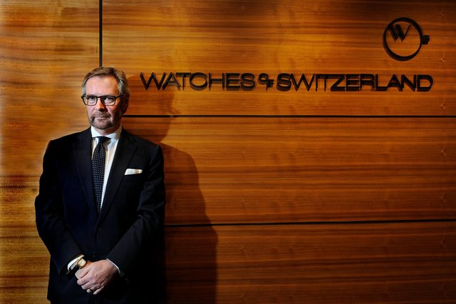 Scotsman Brian Duffy is the chief executive of Watches of Switzerland, which ranks as Britain's biggest retailer of Rolex, Omega, TAG Heuer and Breitling watches. Picture: John Devlin