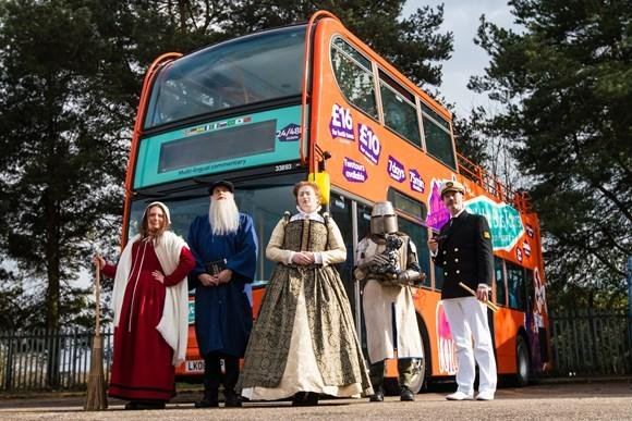 Get on board for a tour with some of the city's historical figures