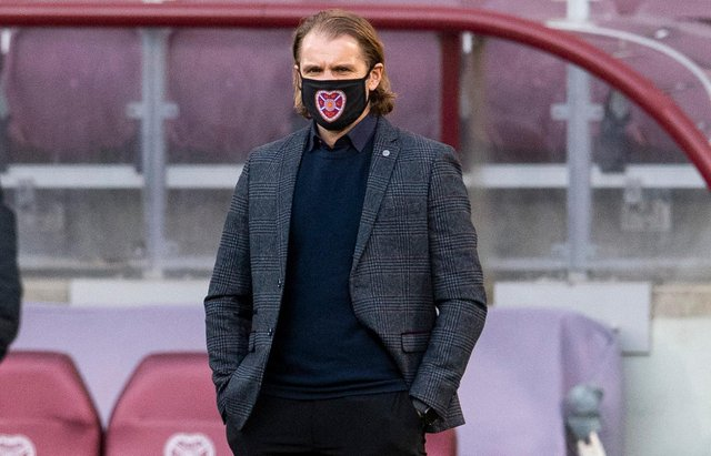 Robbie Neilson led Hearts back to the Premiership for the second time. Picture: SNS