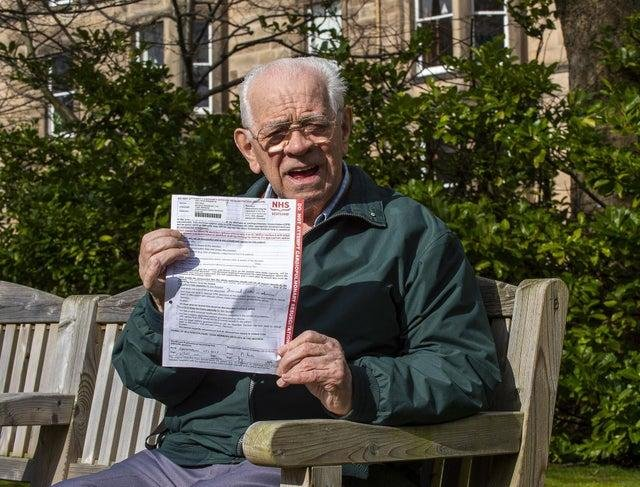 Shocked: Mr Hay with his DNAR letter
