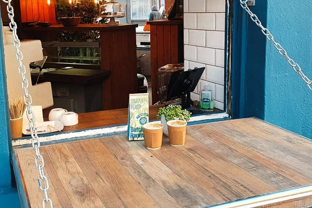 Customers can currently order coffees and other hot drinks through the cafe's hatch picture: supplied