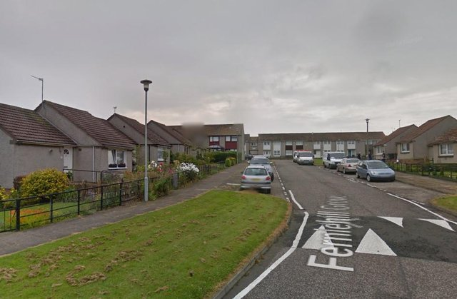Police are hunting a masked gang in connection with a robbery in Ferniehill Grove. Pic: Google