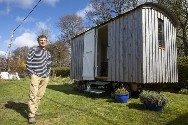 Jack Roots from Bo'ness, who crafts Shepherds Huts.