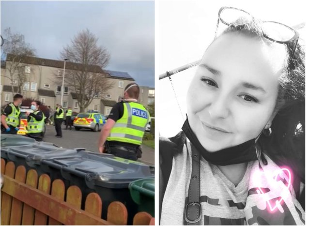 """Donna Ganson (right) says her family were forced to flee their home because they were """"living in fear"""" due to an escalation in threats since the case went to court at the end of March. The image on the left shows police called out during one incident."""