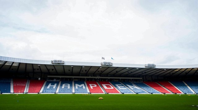 Only 600 fans will attend the Scottish Cup final between Hibs and St Johnstone on May 22. (Photo by Ross Brownlee / SNS Group)