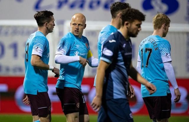 Steven Naismith was on the scoresheet as Hearts defeated Raith 4-0.