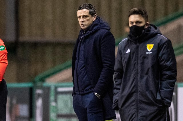 Hibs manager Jack Ross proved unable to lift his side as they suffered a rare defeat, against Ross County. Photo by Ross Parker / SNS Group