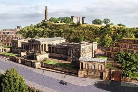 Proposed extension to the historic Royal High School on Calton Hill sparked huge controversy.