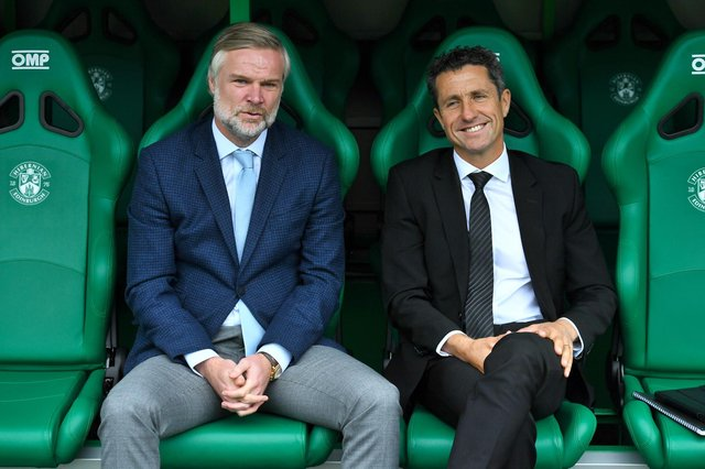 Steven Pressley (left) is keen on the Aberdeen job. Picture: SNS