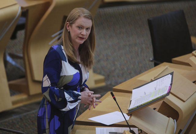 Education Secretary Shirley-Anne Somerville during the ministerial statement on National Qualifications 2021 at the Scottish Parliament in Holyrood, Edinburgh.