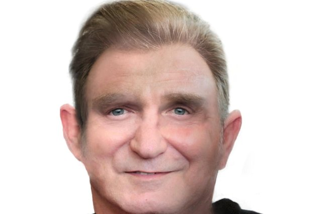 Forensic artist's image of a man whose skull was uncovered during tram works
