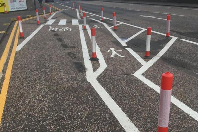 The layout on Queensferry Road has been likened to an assault course