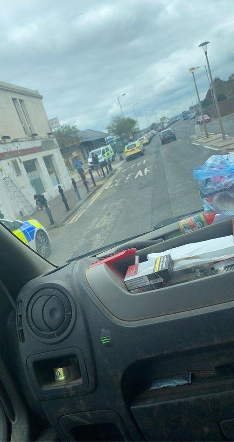 Police have sealed off an area of Portobello Promenade. Picture: Dean Rutherford