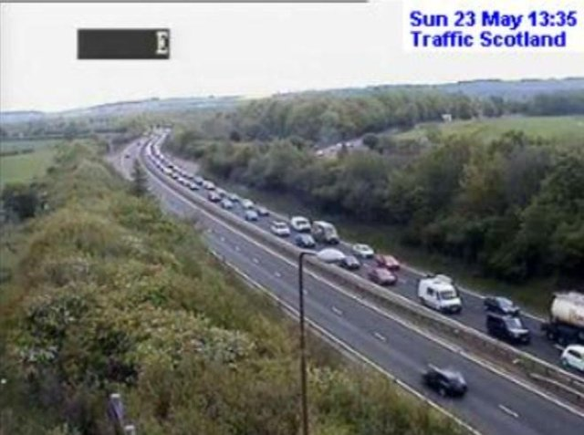 There has been a break down on the A720 near Lasswade. Picture: Traffic Scotland