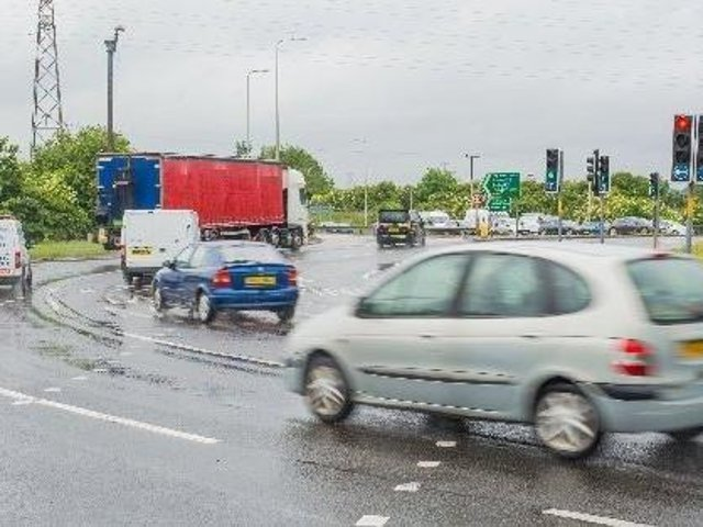 The Sheriffhall Roundabout is a notorious pinch point on the Edinburgh City Bypass