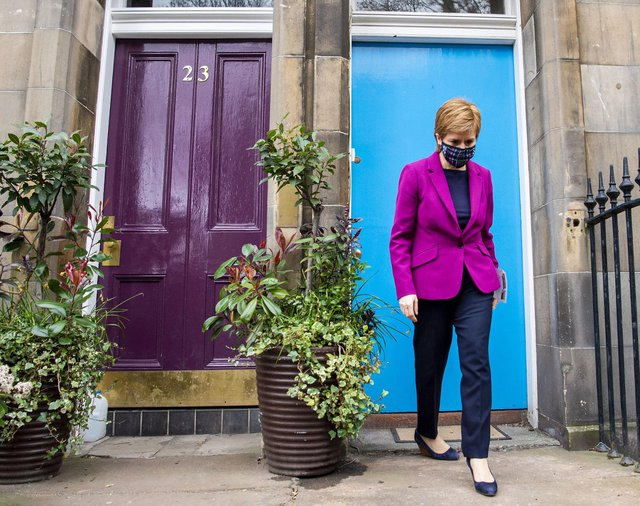 Nicola Sturgeon went leafleting as part of a campaign visit to Edinburgh Central