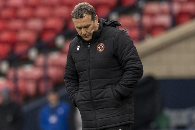 Dundee Utd manager Micky Mellon saw his side lose at Hampden. (Photo by Ross Parker / SNS Group)