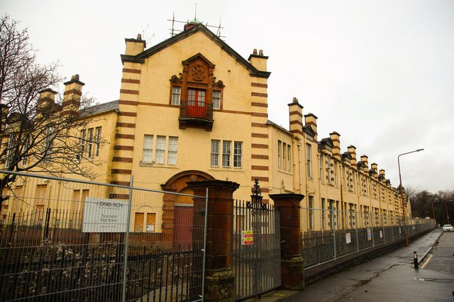 The old Tynecastle High School has been boarded up for years since its closure.