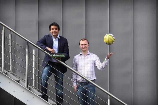 Roy Hotrabhvanon and Hayden Ball of Edinburgh's PlayerData. Picture: Stewart Attwood