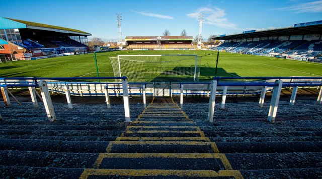 A genreal view of Queen of the South's Palmerston Park