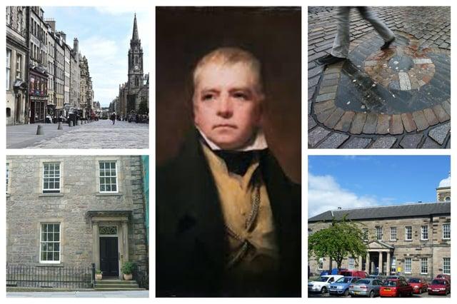 A new virtual tour traces the Edinburgh footsteps of legendary author Sir Walter Scott.