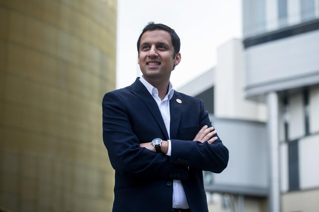Anas Sarwar, a politician who is in tune with the opinion of the Scottish people, is focusing on a national Covid recovery plan (Picture: John Devlin)