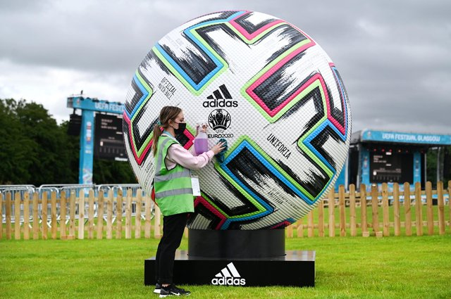 First look at UEFA EURO 2020 Fan Zone at Glasgow Green as the venue prepares to welcome fans.