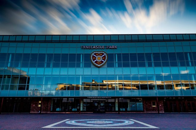 EDINBURGH, SCOTLAND - APRIL 17: A general view of Tynecastle Park during the ongoing coronavirus pandemic, on April 17, 2020, in Edinburgh,  Scotland.  (Mark Scates / SNS Group)