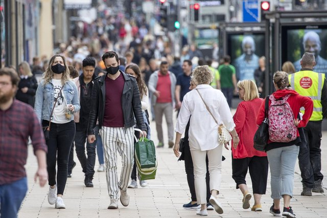 Shoppers pictured on Edinburgh's Princes Street. Picture: Jane Barlow/PA Wire